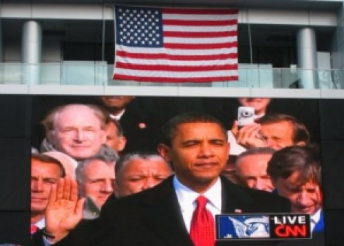 Inauguration Day 2009, President Barack Obama, L.A. Live Plaza | The Girl Next Door is Black