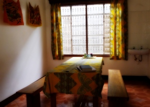 Dining Room in Moshi, Tanzania House | Give a Heart to Africa House | The Girl Next Door is Black