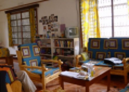 Living Room of Give a Heart to Africa House in Moshi, Tanzania, Africa, Travel Voluntourism | The Girl Next Door is Black