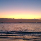 Sunset on the West Coast of Zanzibar