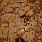 The mosaic on the bathroom floor