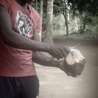 Coconut carving