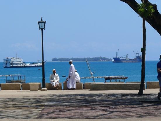 Muslim Men on Promenade in Stone Town Zanzibar | The Girl Next Door is Black