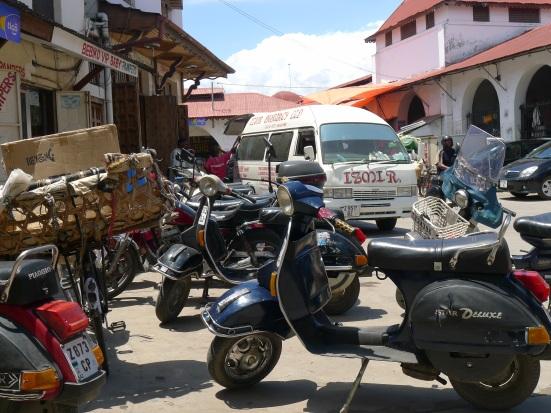 Motorbikes in Stone Town Zanzibar | The Girl Next Door is Black