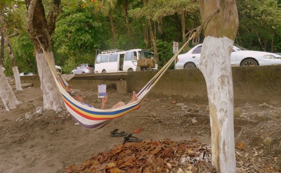 A good book, a beach and a hammock: this is the life.