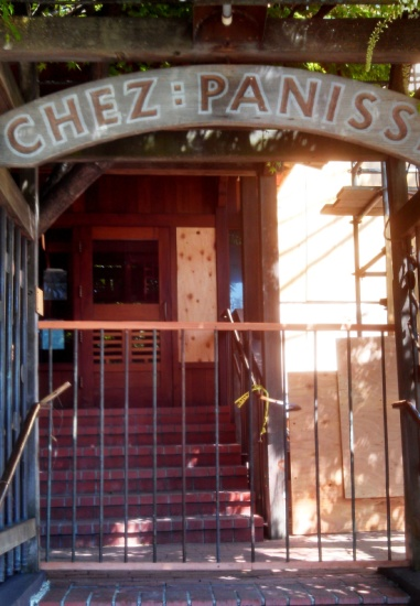 The renowned Chez Panisse is temporarily closed due to fire damage. It's been named one of the top 50 US restaurants for many years. Reservations are always in high demand.