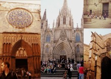 We took an informative 2.5 hour walking tour through the Gothic district. We learned A LOT about Spain's ancient history and saw landmarks like the Santa Maria del Pi church, Barcelona Cathedral, tourists and even los ninos in school.