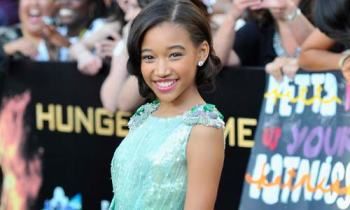 "Amandla Stenberg played Rue in ""The Hunger Games"" film. 