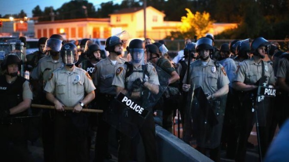 The milita---er, the police in Ferguson, MO Photo cr: